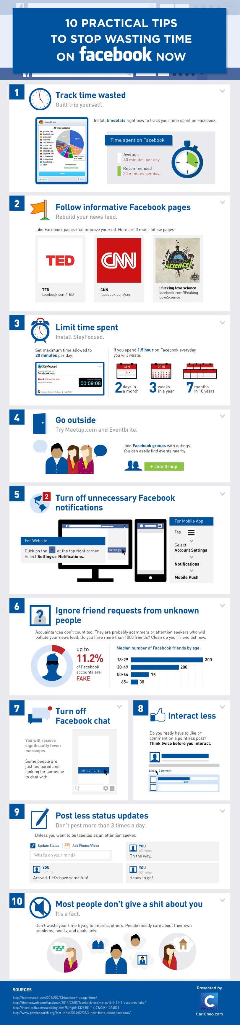 10 Practical Tips To Stop Wasting Time On Facebook Now
