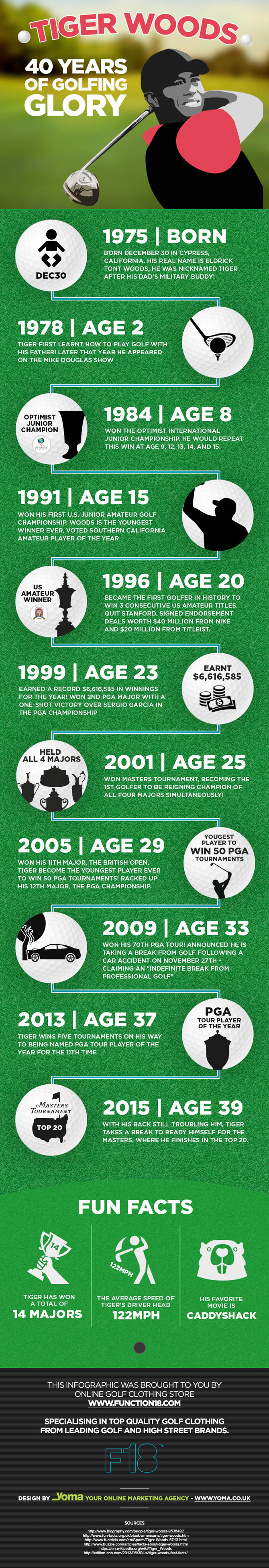 Tiger Woods: 40 Years of Golfing Glory by Function 18