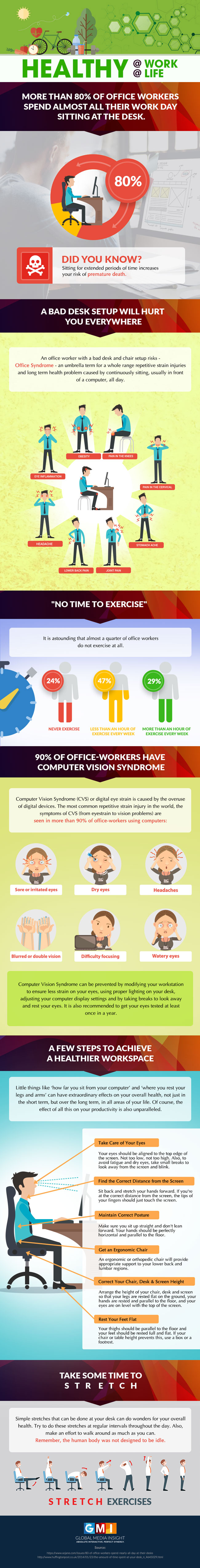 Office Health and Wellness Tips by Global Media Insight